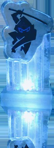 Ninja Tunes Ice Sculptures