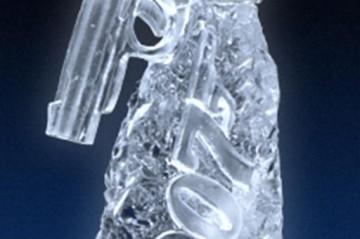 007 Gun Ice Sculpture