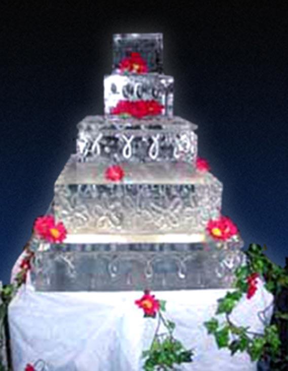 Wedding Cake Ice Sculpture Bespoke Ice Carving Hand