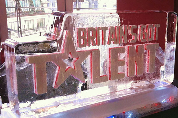 Britain's Got Talent Ice Sculpture