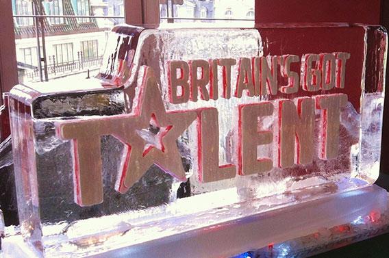 Britain's Got Talent Ice Sculpture