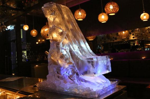 Olympic Ski Slope Ice Sculpture
