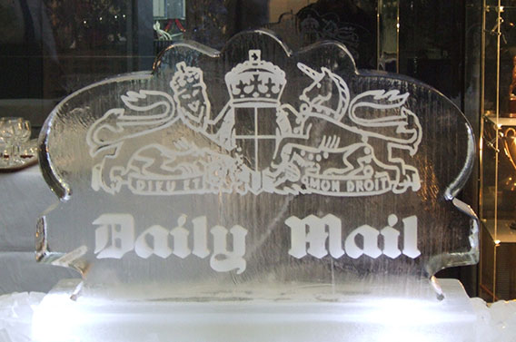 Daily Mail Ice Sculpture