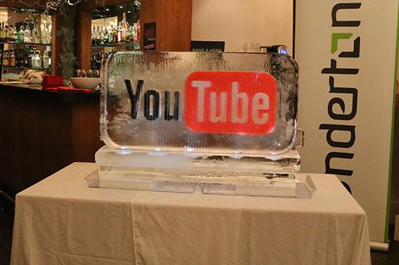 YouTube Logo Ice Sculpture