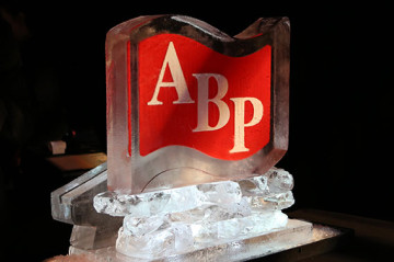 ABP Logo Ice Sculpture