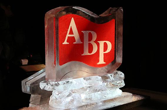 ABP Logo Ice Sculpture