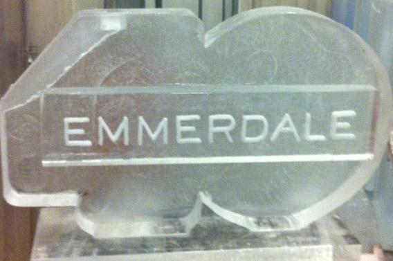 Emmerdale 40 logo Vodka Luge