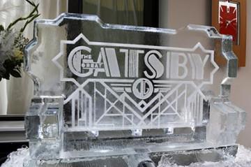 Gatsby logo Ice Sculpture
