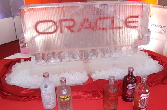 Oracle Logo Ice Sculpture