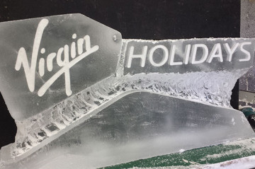 Virgin Holidays Logo Ice Sculpture