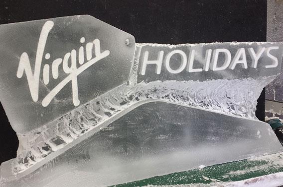 Virgin Holidays Logo Ice Sculpture