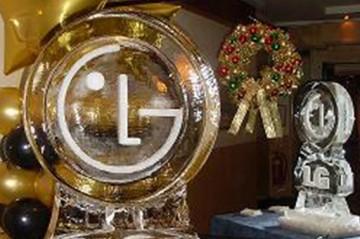 LG Logo Ice Sculpture