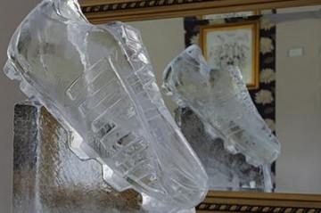 Football Boot ice sculpture
